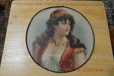 "Large Antique Chimney Flu Cover - Victorian Girl (11 3/4"")"