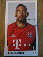 Autografato AK Cartolina JEROME BOATENG FC Bayern munich 15/16 2015/2016