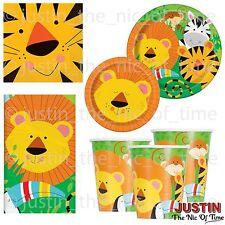 Animal Jungle Safari Zoo Birthday Girls Boys Party Supplies Tableware