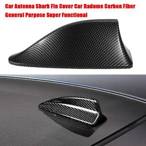 Universal Car Roof AM/FM Radio Antenna Shark Fin Carbon Fiber Signal Aerial O6J9