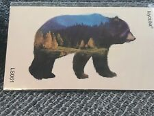 """Tattoo BEAR temporary 2""""x3 diving snorkel surf GIFT #8 summer party favor color"""
