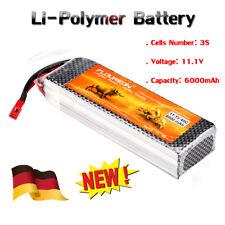 Li-Po RC Batterie 3S 11.1V 6000mAh 40C Akku für Flugzeug / Boot / Auto / LKW