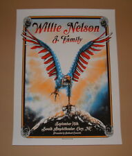 Zeb Love Willie Nelson Cary North Carolina Concert Poster Print Signed Numbered
