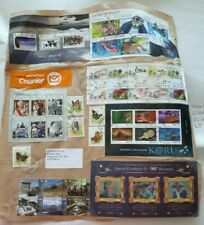 Large Piece with High Value New Zealand Stamps Total $89.10 and 44 Stamps