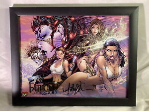 Fathom Witchblade Tomb Raider Framed Print 2000 Tour Signed by Michael Turner