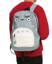 Studio Ghibli Totoro Big Face Furry Belly Character Backpack School Book Bag NWT