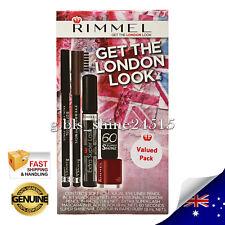 RIMMEL EXCLUSIVE 4 Pieces Gift Mascara Nail Polish Eye Liner Eyebrow Makeup