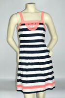 Vineyard Vines Women Blue Neon Pink Embroidered Lined Shift Dress Size 0