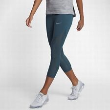 Nike Power Epic Lux Women s Running Crops L Blue Green Casual Gym Training  New 5ffceaeb703