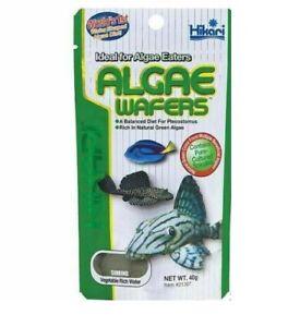 Hikari Algae Wafers 40g Fish Food for Plecos, Bottom Feeders & Marine Herbivores
