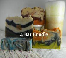 4 Bar Bundle Your Choice Organic Goat Milk Soap Homemade Gift Free Shipping