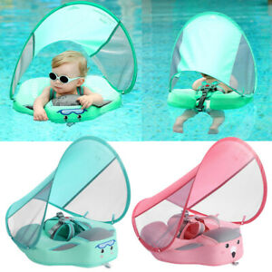 Baby Swimming Float Non Inflatable Trainer Pool Float With Canopy Swim Ring YG