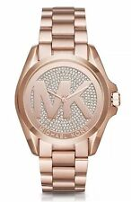 Michael Kors BRADSHAW Rose Gold Crystal Pave Dial Watch MK6437 Nib $295