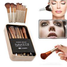 With Box 12pcs/Set Makeup Cosmetic Brushes Powder Foundation Eyeshadow Lip Tool