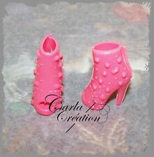 Chaussure Cloutée A Talon Escarpin Rose Soulier Poupée Mannequin Barbie