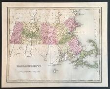 """""""Map of Massachusetts"""" T.G. Bradford 1838"""