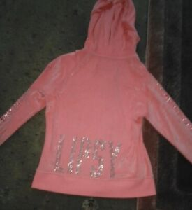 Lipsy Tracksuit Top.Velour  Hoodie Size 14 Pink