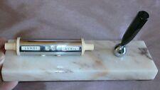 Porte stylo avec dateur vintage - Chrome bakélite sur socle marbre