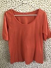 Fresh Produce women orange tee shirt size M