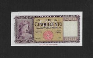 aUNC 500 lire 1947 ITALY