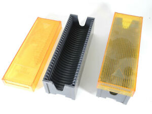 Two Bell & Howell Micro-Fit 30 Slide Trays