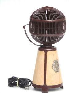 Fargo Fanimation Vintage Antique Globe Table Top 380 degrees Portable Desk Fan