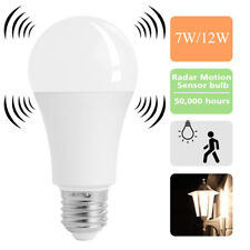 E27 Radar Sensor Ambient PIR Motion 7/12W LED Globe Bulb Light Lamp Practical FA