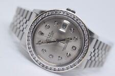 Rolex mens Diamond Dial diamond  Bezel 36mm Datejust Swiss  automatic watch