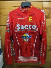 Cannondale Saeco long sleeved race tour bicycle jersey red large mens