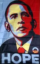 3' X 5' OBAMA HOPE polyester flag w/ grommets. Banner Sign Display