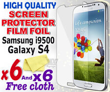 6 new High Quality Screen protection film foil for Samsung i9500 Galaxy S4