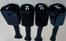 Calibre Acrylic Long Neck Club Head Wood Covers 1-3-5-X, 460cc #1 Cover, Black