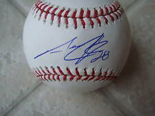 AARON COOK COLORADO ROCKIES SIGNED OFFICIAL ML BALL