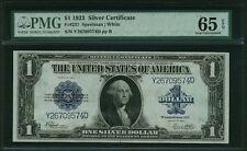 1923 $1 SILVER CERTIFICATE BANKNOTE FR237 GEM UNCIRCULATED CERTIFIED PMG-CU65EPQ