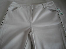 Charter Club Cotton/Spandex Pumice Beiges Casual Denim Jeans Sz 8P Inseam 29 NWT