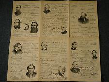 Historical Famous Pre & Victorian Printed Signatures Autographs 1890's