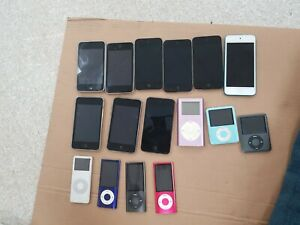 Job lot of  16 x Mixed Apple ipods -- 100% UNTESTED.