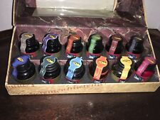 Mg084 Authentic Models Colorful Prose Collection of 12 Ink Bottles Nib
