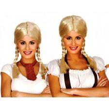 CARNEVALE HALLOWEEN PARRUCCA TRENZAS TRECCIE BIONDE WIG BLONDE HAIR BRAID TYROL