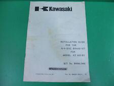 KAWASAKI kz650 kz 650 B2 guida montaggio disco freno guide installation brake