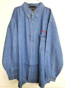 NEW Snap on Tools Men's 3XL Blue Demin Long Sleeve Button Up Shirt Embroidered