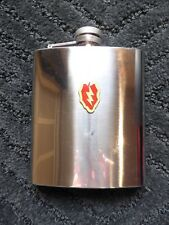 New listing Stainless Steel 8 oz. Silver Flask w/ Heart & Lightning Bolt