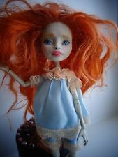 OOAK Monster High doll  custom repaint rerooted by Ecomilo+ 2 cloth sets