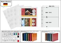 1 LOOK 1-7397 Münzhüllen PREMIUM 2 Fächer 190 x 122 mm Für Münz Folder