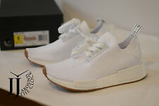 NEW ADIDAS ORIGINALS NMD_R1 PK PRIMEKNIT WHITE GUM PACK SNEAKERS BY1888 5 US