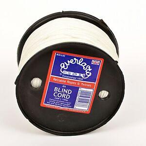 EVERLASTO 2MM NYLON  BLIND CORD STRONG SYNTHETIC CORD BLACK WHITE - 50M, 100M