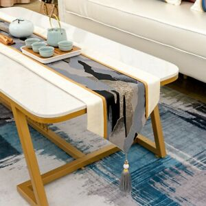European Tassel Table Runners Cover Patchwork Tablecloths Home Dining Art Decor