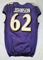 #62 Johnson of Baltimore Ravens NFL Locker Room Practice Worn Jersey - BR1704