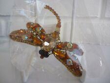 Brooch Dragonfly Diamante