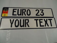 Euro German Style Embossed Aluminum Lic Plate GERMAN DECAL FLAG-9 total spaces